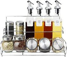LF- Glass cruet jar Spice box soy sauce vinegar