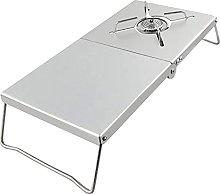 LFLDZ Folding Stove Table, Portable Camping Stove