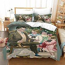 LFOFRP Duvet Cover Sets King Size - 3 Pieces Cute