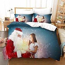 LFOFRP Duvet Cover Sets King Size - 3 Pieces Santa