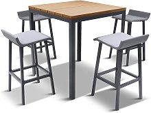 LG Outdoor Siena 4-Seat Wood-Effect High Garden