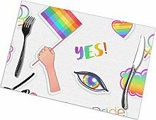LGBT Logo Symbols Stickers Seamless Pattern Flags,