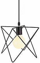 LGQ Novely Chandeliers- Black Metal Hanging Lamp