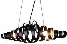 LGQ Novely Chandeliers- Black Spiral Metal