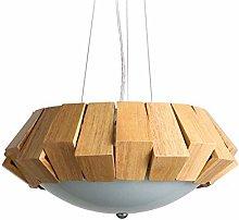 LGQ Novely Chandeliers- Led Pendant Lamp Wood
