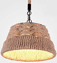 LGQ Novely Chandeliers-Pendant Light Hemp Rope