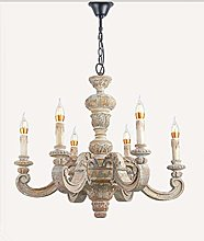 LGQ Novely Chandeliers- Retro Wood Engraving