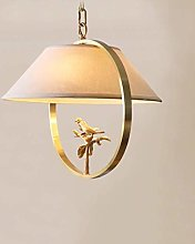 LGQ Novely Chandeliers- White Cloth Lampshade