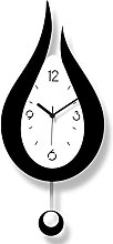 LGWZ Wall Clock, Trendy Minimalist Black and White