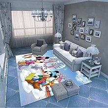 LGXINGLIyidian Carpet Rug Mickey Mouse Snowman 3D