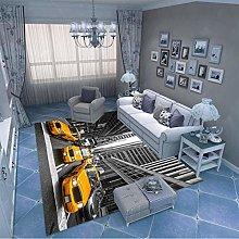 LGXINGLIyidian Carpet Rug New York Street Taxi 3D