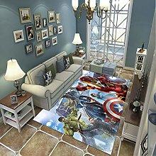 LGXINGLIyidian Carpet Rug Superhero Iron Man Hulk