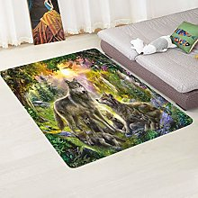 LGXINGLIyidian Super Soft Carpet Wolf And Wolf