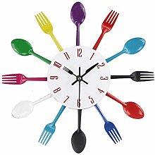 LGYKMU Timelike Wall Clock, Metal Kitchen Cutlery