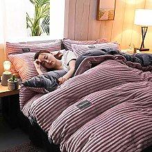 LGYKUMEG Cordruroroy Comforter Cover Double Duvet