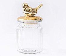 LGYKUMEG Glass Containers, Candy Jar, Cookie Jar