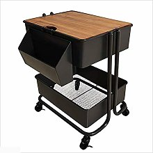 LHaoFY Retro Mobile Small Coffee Table Side