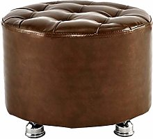 LHDQ Orange Ottoman Stool Small Sofa Stool PU Faux