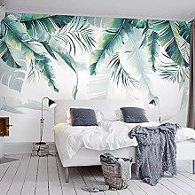 LHGBGBLN 3D self-Adhesive Wallpaper Banana Leaf