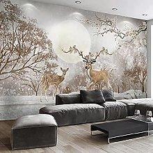 LHGBGBLN 3D self-Adhesive Wallpaper Forest Deer