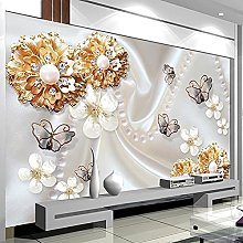 LHGBGBLN 3D Self-Adhesive Wallpaper Golden Jewelry