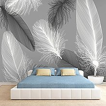 LHGBGBLN 3D self-Adhesive Wallpaper Gray Feather