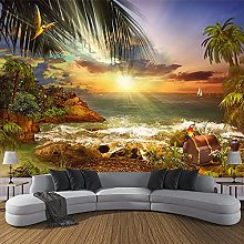 LHGBGBLN 3D self-Adhesive Wallpaper Island Beach