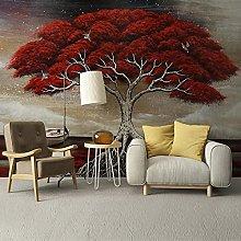 LHGBGBLN 3D self-Adhesive Wallpaper red Big Tree