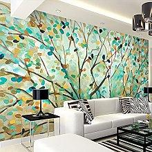 LHGBGBLN 3D self-Adhesive Wallpaper Retro Tree Oil