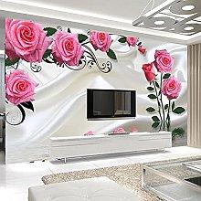 LHGBGBLN 3D self-Adhesive Wallpaper Romantic Rose
