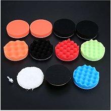 LHjin-Polishing pad, 12Pcs Sponge Waxing Buffing