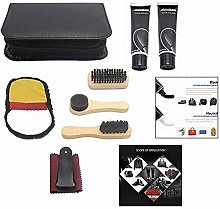 LHKJ 8Pcs Shoe Shine Care Kit With Travel Case,