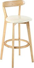 LHL-DD Kitchen Chairs Barstool Washable Wooden