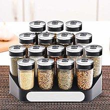 LHQ-HQ 16-Piece Set,Glass Spice Jar Shaker Burette