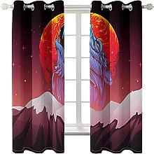 LHUTY Blackout curtain for kids bedroom Animal