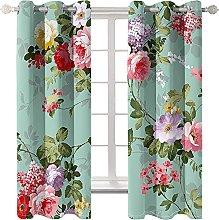 LHUTY Blackout curtain for kids bedroom Flower 2x