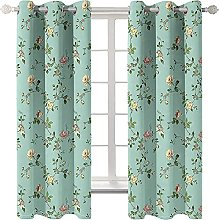 LHUTY Blackout curtain for kids bedroom Green
