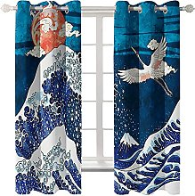 LHUTY Blackout curtain for kids bedroom Japanese