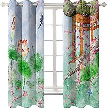 LHUTY Blackout curtain for kids bedroom Pond 2x