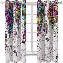 LHUTY Blackout curtain for kids bedroom Purple