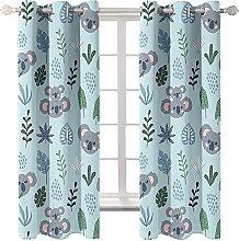 LHUTY Blackout Curtains Animal Koala 2x W66x L90