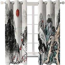 LHUTY Blackout Curtains Fairy crane 2x W55x L96
