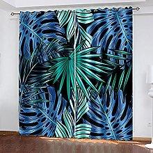 LHUTY Blackout Curtains Tree Leaves 2x W46x L72