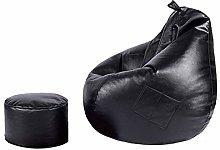 LHY- Lazy Sofa Bean Bag PU Leather Balcony Single