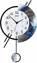 LHY NEWS Pendulum Wall Clock,3D Sticker Wooden