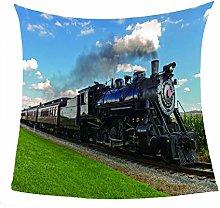 Liamjh Bed Blankets Train Flannel Fleece Soft Cozy