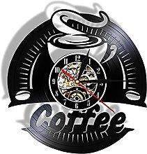 Lianaic wall clock Vinyl Coffee Wall Clock,Modern