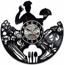 Lianaic wall clock Vinyl Wall Clock,Cutlery,Wall