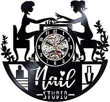 Lianaic wall clock Vinyl Wall Clock for Nail