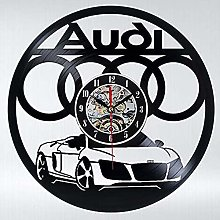 Lianaic wall clock Vinyl Wall Clock with Car